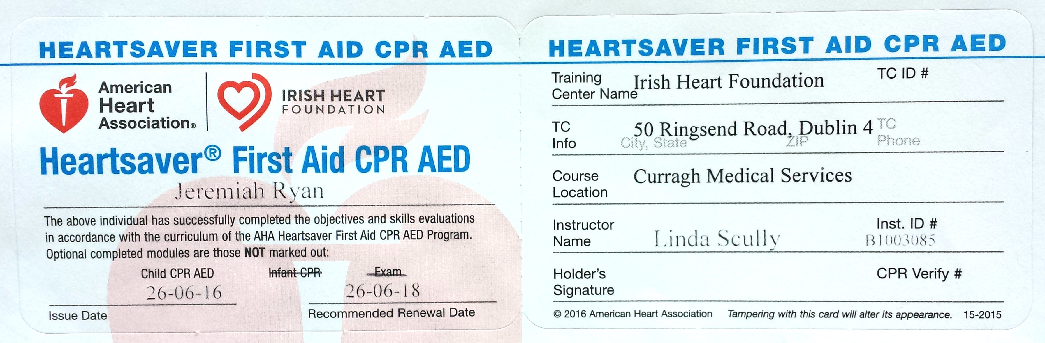 dublin aikido First Aid CPR AED Certificate