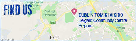 location map to Seminar martial arts dublin